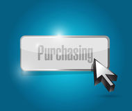 Purchasing button illustration design Stock Image