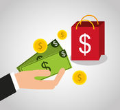 Purchasing payment design Royalty Free Stock Images