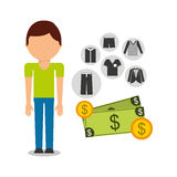 Purchasing payment design Royalty Free Stock Image