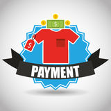 Purchasing payment design Stock Image