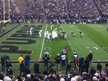 Purdue对宾州州立大学橄榄球 免版税库存照片