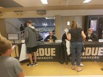 Purdue basketball fan day. On October 21 2017 in West Lafayette Indiana royalty free stock photo