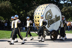 Purdue drum Stock Photo