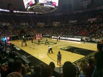 Purdue-Nebraska volleybolllek Royaltyfri Fotografi