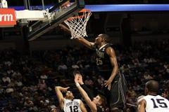 Purdue's JaJuan Johnson jumps high to block a shot stock photos