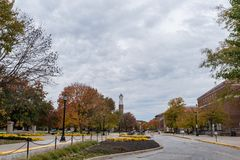 Purdue University campus in the fall royalty free stock images