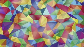 Pure abstract background of triangles of different colors stock footage