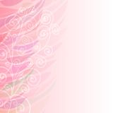 Pure Abstract pink floral background pattern left Stock Image