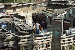 Pure Argentine poverty in La Cava slum. ARGENTINA: daily life in the slum La Cava in the city San Isidro, a suburb of the capital Buenos Aires, the second Stock Photography