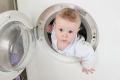 Pure Baby From Washer Royalty Free Stock Photography