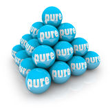 Pure Ball Pyramid Natural Organic Ingredients Good Honest Innoce Stock Images