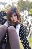 Pure Beautiful Asian Girl Stock Photo
