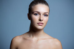 Pure beautiful woman with health skin. Pure beautiful woman naked with health skin. Close-up Stock Photos