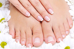 Pure and Beauty  female feet Royalty Free Stock Image