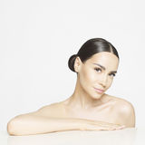 Pure beauty. Studio portrait of beautiful young woman with perfect skin. Beauty and care. Spa salon Stock Photo