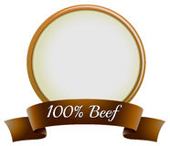 A pure beef label Royalty Free Stock Photo