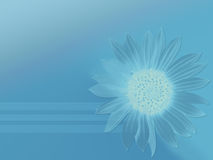 Pure blue. Colorized sunflower on background Vector Illustration