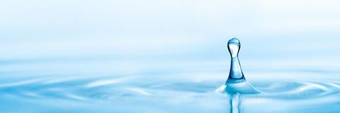 Blue Water Droplet stock photos