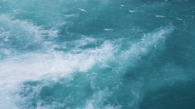 Water texture. Pure blue water with light reflections. Real time. stock video footage