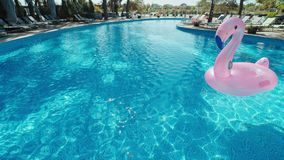 Pure blue water in the pool with light reflections stock video footage