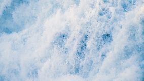 Water texture. Pure blue water with light reflections. Slow motion. stock video