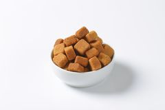 Pure cane sugar cubes Royalty Free Stock Photo