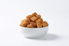 Pure cane sugar cubes Stock Photos