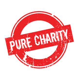 Pure Charity rubber stamp Stock Photography
