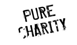 Pure Charity rubber stamp. Grunge design with dust scratches. Effects can be easily removed for a clean, crisp look. Color is easily changed Stock Image