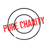 Pure Charity rubber stamp. Grunge design with dust scratches. Effects can be easily removed for a clean, crisp look. Color is easily changed Stock Photos