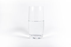Pure Clean Glass of Water Simple Minimalistic White Background N stock illustration