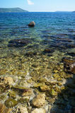 Pure clear water near the deserted beach Royalty Free Stock Photo