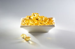 Pure Cod Liver Oil. With simple setup on mood lighting Stock Image