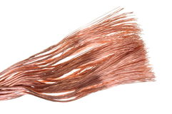 Pure copper wire Royalty Free Stock Image