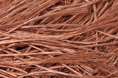 Pure copper wires raw material for industry Stock Images