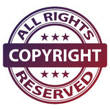 Pure copyright stamp Stock Photos