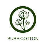 Pure cotton manufacturing symbol Stock Photo