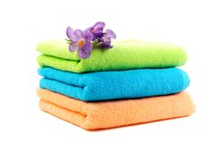 Pure Cotton Towels Stock Photos