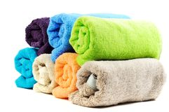 Pure cotton towels Stock Image
