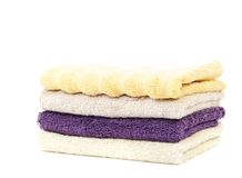 Pure cotton towels Royalty Free Stock Photos