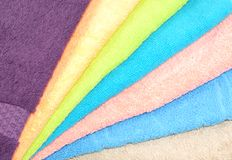 Pure cotton towels Royalty Free Stock Image
