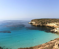 Pure crystalline water surface around an island - Lampedusa, Sic Royalty Free Stock Photo