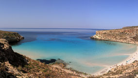 Pure crystalline water surface around an island Lampedusa stock images