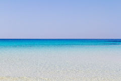 Pure crystalline water surface around an island Lampedusa stock photo