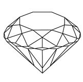 Pure Diamond. Black & white wireframe illustration of a diamond Royalty Free Stock Image