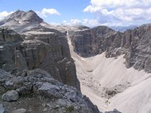 Pure dolomite cliffs Stock Images