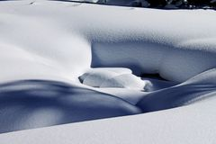 Pure Drifts of Snow in the Colorado Rockies Royalty Free Stock Photo