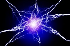Pure Energy and Electricity Symbolizing Power. Pure energy and electricity with bright light symbolizing power Royalty Free Stock Image