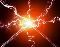 Pure Energy and Electricity Symbolizing Power Stock Photography