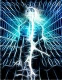 Pure energy. Surrealism. Shining energy inside human silhouette Royalty Free Stock Photo